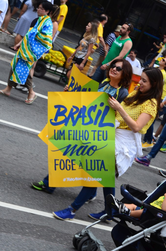 street protest sao paulo 13 march 2016