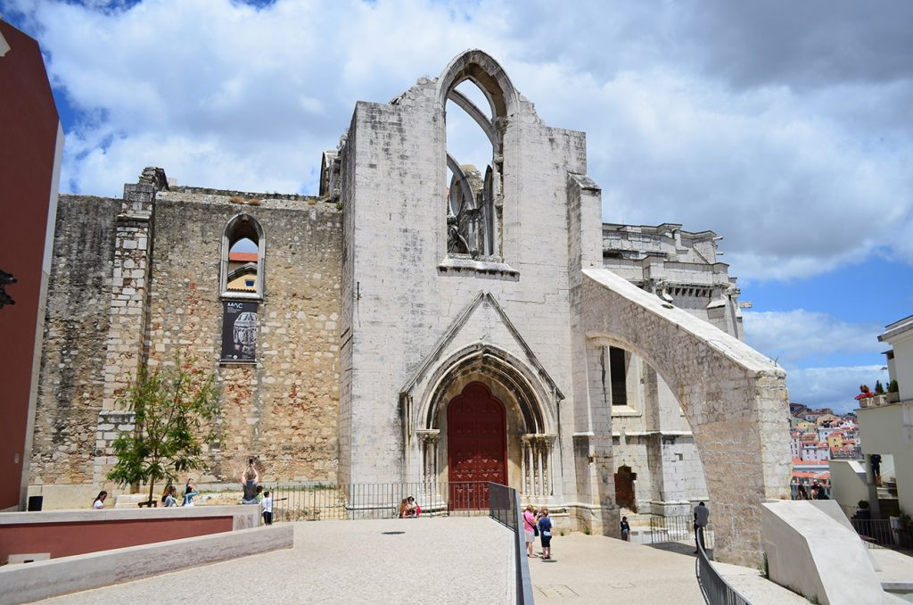 lisabona catedrala manastirea carmos - exterior
