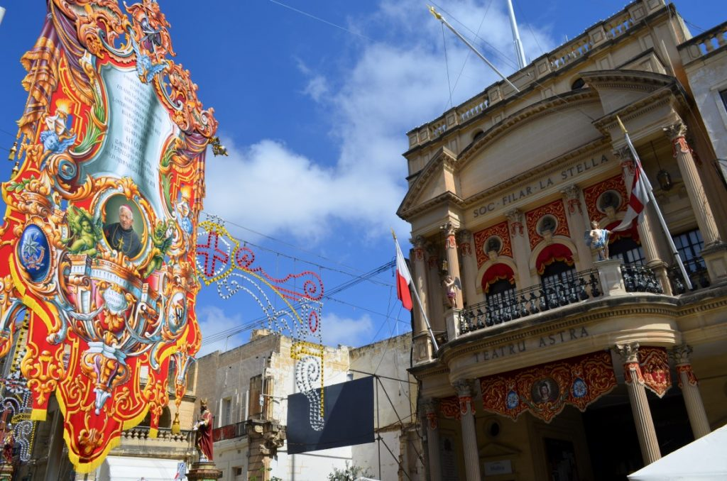 Festa decorations in Victoria Gozo