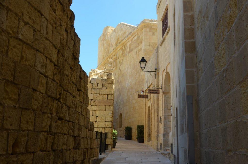 Victoria Citadel cobbled streets